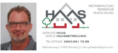 Hausbetreuung A- 9241 Wernberg Tel: 0650 261 72 88