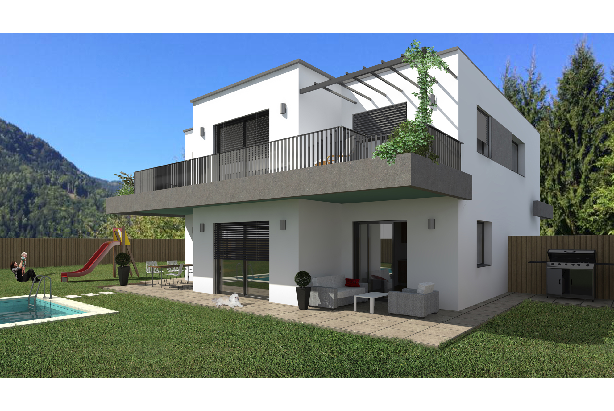 Einfamilienhaus Gebäudevisualisierung